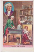 IMAGE 9X14 . Antoine LAVOISIER ( 1743-1794) Chimie  / Au Dos Pub BERGOUGNAN (Pneus - Caoutchouc ) Clermont Ferrand - Historia