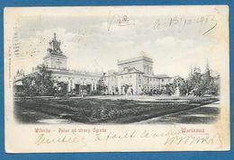 WARSZAWA WILANDOW PALAC OD STRONY OGRODU 1903 - Polen