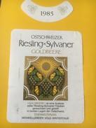 5400 - Goldbeere Riesling X Sylvaner 1985 Suisse - Etiquettes