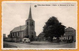 Villers Saint Ghislain - L'Eglise - Le Monument Et La Place - Vieille Camionnette - Edition L. CLETTE - ALBERT - België
