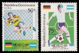 Soccer Football Dominicana Dominican Republic #1506/7 1986 World Cup Mexico MNH ** - Coupe Du Monde