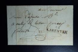 France : Letter 1828 48 Carentan To Falaise - 1801-1848: Precursors XIX