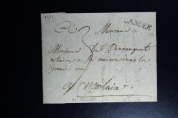 France : Letter 1746 Lander To Molaix Waxed Sealed - 1701-1800: Précurseurs XVIII