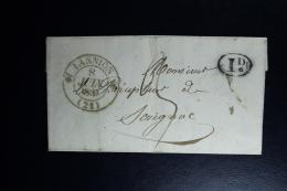 France : Letter 1839 Lannion Carhaix Brest To Serignac - 1801-1848: Vorläufer XIX