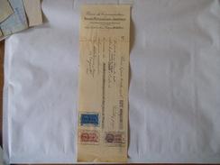 TIMBRES FISCAUX 30c, 2 FRANCS ET 25 FRANCS SUR TRAITEUNION DE CONSOMMATEURS PARIS DU 30 OCTOBRE 1936 - Fiscaux