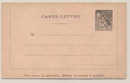 Diego Suarez - 25c Carte Lettre H&G 2a - Diégo-suarez (1890-1898)