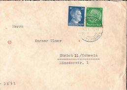 ! Brief Aus Mannheim N. Zürich Deutsches Reich OKW Zensur , Censure, Censor - Briefe U. Dokumente