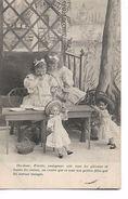 """2 Petites  Filles  Dans  Jardin  ,poupées """"  Dis -donc  Zézette Mangeons Vite  Les Gateaux Et Toutes  Les  Cerises...."""" - Szenen & Landschaften"""
