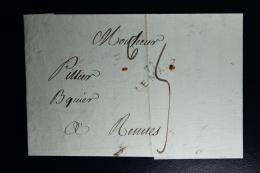 France : Letter 18?    71 Le Mans To Rennes - 1801-1848: Vorläufer XIX