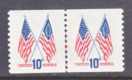U.S. 1519  Part Line Pair   **  FLAG - Coils & Coil Singles