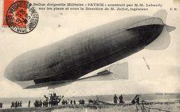 Ballon Dirigeable Militaire 'PATRIE' - Construit Par Lebaudy Et Juliot   -  CPA - Globos