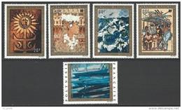 """Polynésie Aerien YT 77 à 81 (PA) """" Tableaux """" 1973 Neuf** - Airmail"""