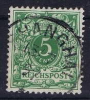 Deutsche Post China : Vorläufer V46  Stempel 2 Shanghai - Kantoren In China