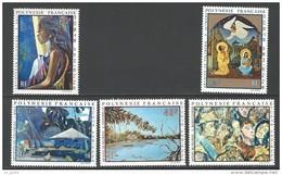 """Polynésie Aerien YT 55 à 59 (PA) """" Artistes En Polynésie """" 1972 Neuf** - Airmail"""