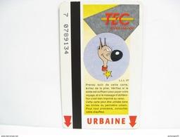 LUCKY LUKE RANTANPLAN N° 4 UNE CARTE DE BUS METRO TRAM TEC CHARLEROI - Métro