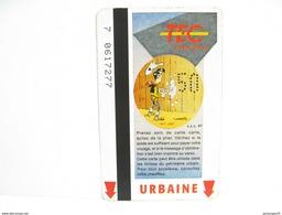 LUCKY LUKE N° 2 UNE CARTE DE BUS METRO TRAM TEC - Métro