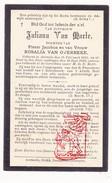 DP Juliana Van Maele / Van Overbeke ° Aarsele Tielt 1832 † 1899 - Devotion Images