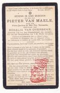 DP Pieter Jacobus Van Maele / Vervaecke ° Kanegem 1799 † Aarsele Tielt 1894 X R. Van Overbeke - Devotion Images