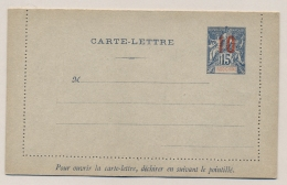 Indo Chine - 1912 - 10 Overprint On 15c Carte Lettre, H&G 10 Unused - Indochina (1889-1945)