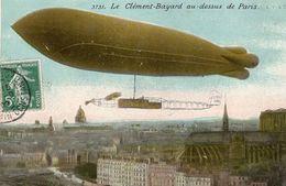 Dirigeable Le 'CLEMENT-BAYARD'  Au-dessus De Paris   -  CPA - Zeppeline