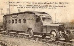 La 'MICHELINE'  -  1er Auto-rail Sur Pneus, Crée Par Le Pneu Michelin 1931  -  CPA - Eisenbahnen