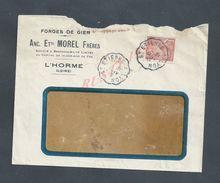 LETTRE COMMERCIALE 1945 Etts MOREL FRERES FORGES DE GIER À L HORME LOIRE X OB SAINT ETIENNE LYON : - France