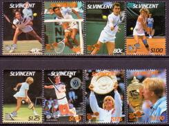 ST.VINCENT 1987 SG #1057-64 Compl.set MNH Lawn Tennis Players - St.Vincent (1979-...)