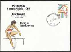 Korea 1988 / Olympic Games Seoul / Athletics, 100 Metres Hurdles / Bronze Medal Winner Claudia Zackiewicz, Germany - Estate 1988: Seul