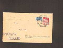 Bizone Bauten 20 Pfg.mit Notopfer A.Brief 1949 M.Sonderstempel V.Hanau Wiederaufbau D.Stätte D.Deutschen Turntags - Bizone