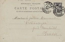Oblitération PARIS. 27 - R. ST DOMINIQUE Du 18/05/1897 Sur Entier Postal Au Type Sage à Dest. De La Suisse - Postmark Collection (Covers)