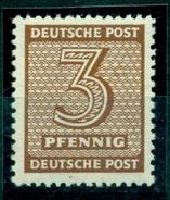 SBZ, Ziffern, Nr. 126 Y W D   Postfrisch ** Geprüft BPP - Sowjetische Zone (SBZ)