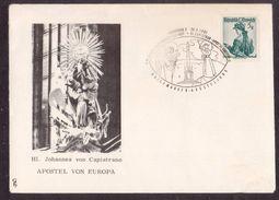 JZ239   Austria, Innsbruck 1961, Hl. Johannes Von Capistrano Apostel Von Europa - Special Cover And Postmark - Cristianesimo