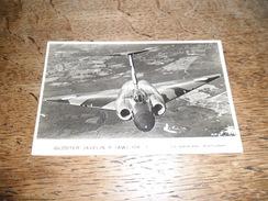 CPSM Du Gloster Javelin F (AW) MK.1, Chasseur De Combat De La Royale Air Force, The Aeroplane Photograph, Daté 1955 - 1946-....: Moderne