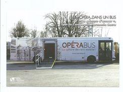 CPM Semur En Auxois - L' Opéra Bus Concept De Culture Mobile Programme Au Recto 2017 Autobus Culturel - Musica E Musicisti