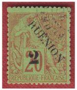 REUNION -- N° 31e -- SURCHARGE RUENION -- OBLITERE - Réunion (1852-1975)