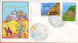 "Maroc,Morocco,Marruecos;FDC 1978,n°805/806 "" Promotion Du Sahara "" Casablanca - Morocco (1956-...)"