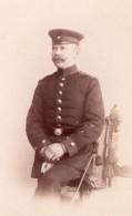 Potsdam Homme En Uniforme Militaire Ancienne Photo CDV Selle & Kuntze 1890 - Photographs