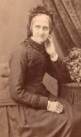 Ashford Femme Anglaise Mode Victorienne Ancienne Photo CDV Barns 1880 - Photographs