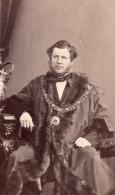 Maire De Sheffield? W.E. Laycock Lord Mayor Ancienne Photo CDV John Burton 1865 - Photographs