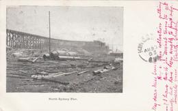 Vintage 1903 - North Sydney Pier - Nova Scotia Canada -  - 2 Scans - Unclassified