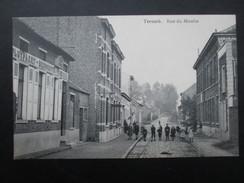 CP BELGIQUE (M1708) TERNAT TERNATH (2 Vues) Rue Du Moulin Circulé 1911 - Ternat