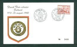 Denmark. Cover 1980. Post March Band 1970-1980. 1.30 Kr. Copenhag. Central Post. - Denmark