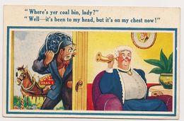 "Great Britain - ""Super Comic"" Postcard - Coal Delivery - Seaside Humour C.1940's - Humor"