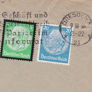 Lettre 1934 Allemagne Deutschland Dresden Dresde Vitznau Suisse Dr Johannes Beda - Allemagne