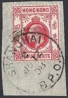 Hong Kong, 1907 KEVII 4c Carmine  Wmk Mult Crown CA  # SG 93 - Michel 92 - Scott 90 USED - Oblitérés