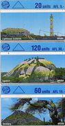 TELECARTES ARUBA *20 Units AFL5 *60 Units AFL15 *120 Units AFL30 (lot De 3) - Aruba