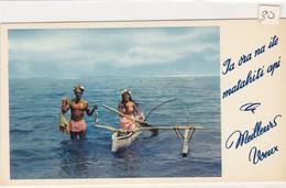 Retour De Pêche (Carte De Voeux 1978). - Polynésie Française