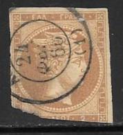 Greece, Scott # 17 Used Hermes, 1862, Space Filler - 1861-86 Large Hermes Heads