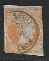Greece, Scott # 19c Used Hermes, 1862 Thin, Trim - 1861-86 Large Hermes Heads