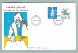 Sweden. FDC Cachet. 1970. Seal Of M. Ladulås & E. Magnuson. Engrav: Wallhorn. - FDC